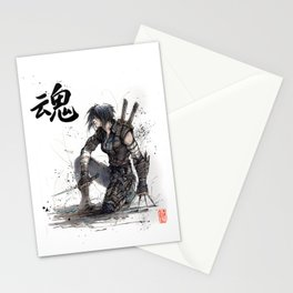 Calligraphy SOUL Ghost in the Shell Motoko Ninja Stationery Cards