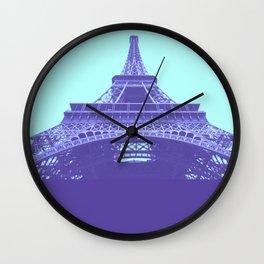 Paris City Travel Duotone Wall Clock