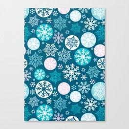 Magical snowflakes IV Canvas Print
