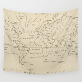 Vintage Map of The World (1794) Wall Tapestry