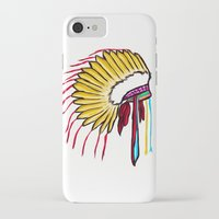 headdress iPhone & iPod Cases featuring Headdress by Relic X