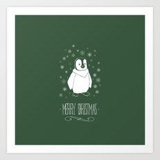 Christmas - Penguin Art Print