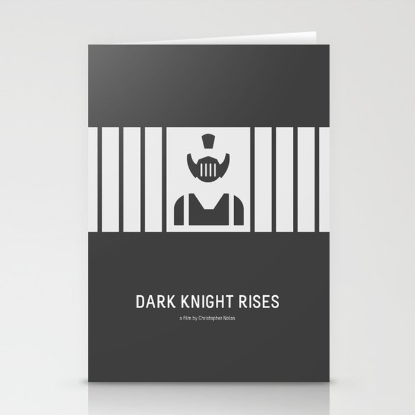 Flat Christopher Nolan movie poster: Dark K. R. Stationery Cards