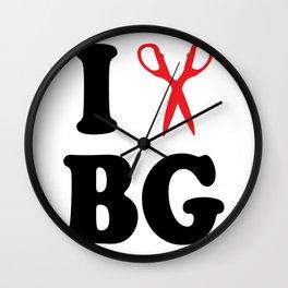 I Scissor Bianca Gervais Wall Clock