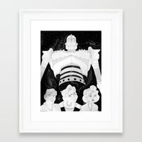 iron giant Framed Art Prints featuring The Iron Giant by TheGiz