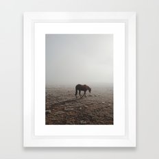 Fogged Horse Framed Art Print
