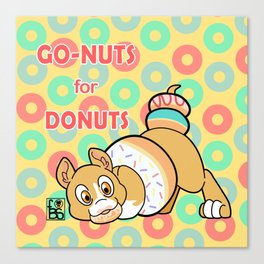 Go-Nuts for Donuts Canvas Print