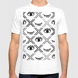Original Black and White Eyes Design T-shirt