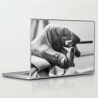 cigarette Laptop & iPad Skins featuring Cigarette! by Clayton Jones