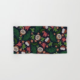 Tropical: Sea Turtles and Coconut Pattern Hand & Bath Towel