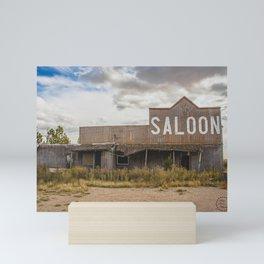 Saloon, Wabek, North Dakota 1 Mini Art Print