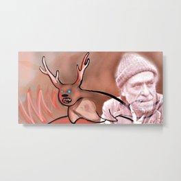 Sealalope Screams Bukowski Metal Print