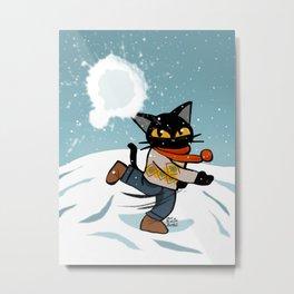 Snowball fight Metal Print