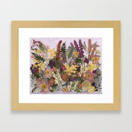 Pressed Flower English Garden Framed Art Print