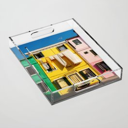 Beautiful Burano Italy Acrylic Tray