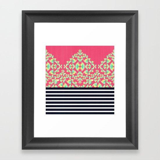 Sick of Chevrons Framed Art Print