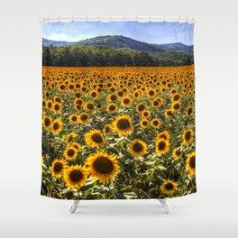 Sunflower Fields Of Dreams Shower Curtain