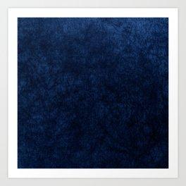 Royal Blue Velvet Texture Kunstdrucke
