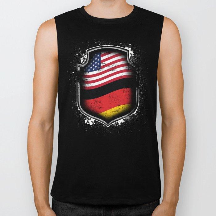 German American Flag Biker Tank