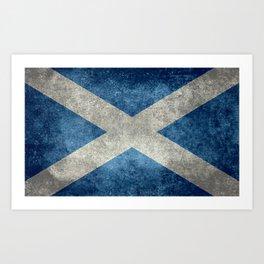 Scottish Flag - Vintage Retro Style Art Print