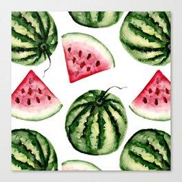 Watermelon pattern. Canvas Print