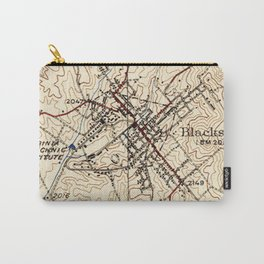 Vintage Map of Blacksburg Virginia (1932) Carry-All Pouch