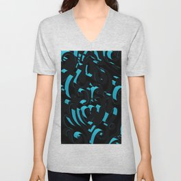 3D Abstract Ornamental Background Unisex V-Neck