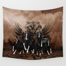 Awesome wild horses Wall Tapestry