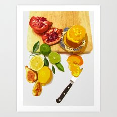 Still Life with Pomegranate Art Print