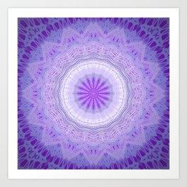 Dark Purple Mandala Design Art Print