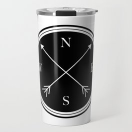 Directions \\ Abstract Compass Design Travel Mug