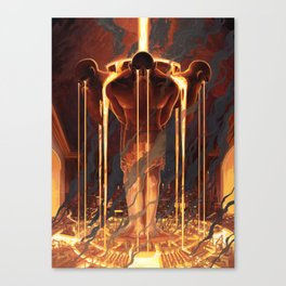 The Fountains of Ferrom Canvas Print