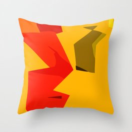 Happy Focus Throw Pillow