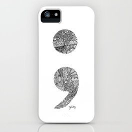 Patterned Semicolon #2 iPhone Case