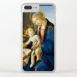 The Virgin and Child by Sandro Botticelli Clear iPhone Case