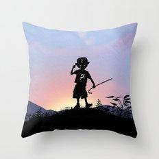 Riddler Kid Throw Pillow