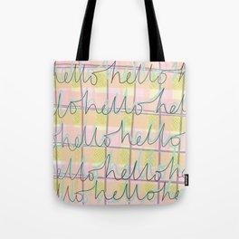 Hello Hello Tote Bag