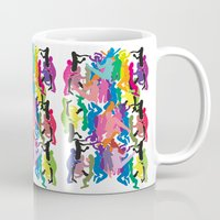 it crowd Mugs featuring Crowd by Emmanuelle Ly