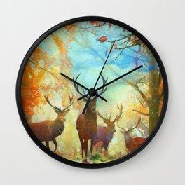Autumn Forest Watch Wall Clock