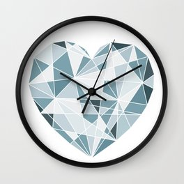 Heart. Geometric Heart. Wall Clock