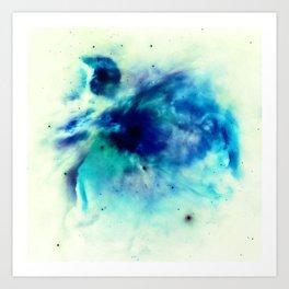 Orion Nebula Teal Turquoise Aqua Blue Art Print