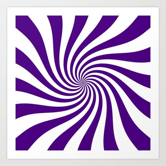 Swirl (Indigo/White) Art Print