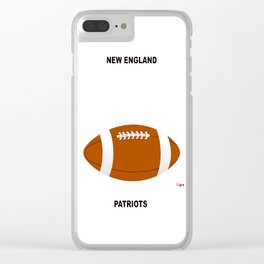 Patriots, AFC, Eastern Division, New England Clear iPhone Case