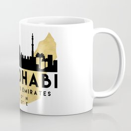 ABU DHABI UNITED ARAB EMIRATES SILHOUETTE SKYLINE MAP ART Coffee Mug