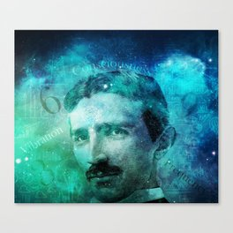Tribute to Tesla Canvas Print