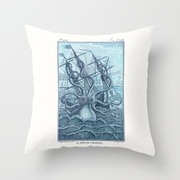 Vintage Colossal Squid Throw Pillow