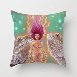 Dragon's Call Throw Pillow