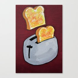 You're Toast #199 by Mike Kraus - art food breakfast kitchen toaster fun appliance cooking bake chef Canvas Print