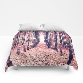 Millennial Pink Magical Forest Comforters