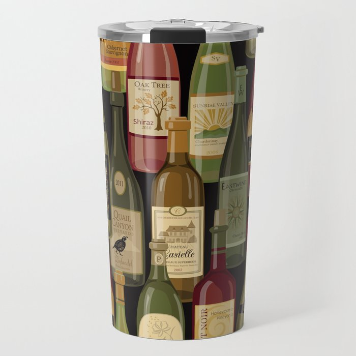 Wine Bottles Travel Mug